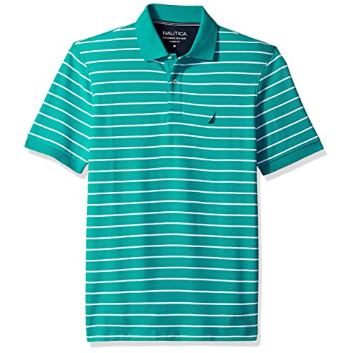 a1ea2414 Buy Nautica Men's Classic Fit Short Sleeve Striped Polo Shirt with ...
