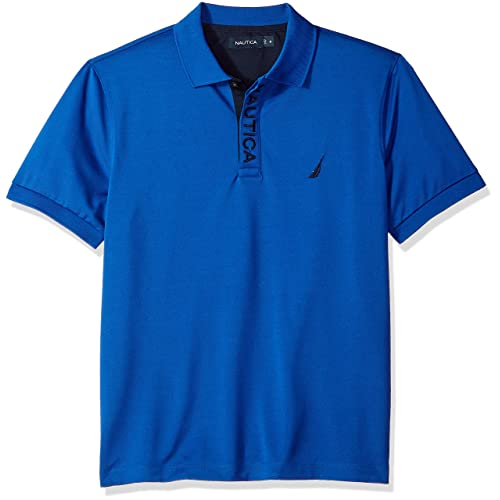 ac4678a2 Nautica Men's Classic Fit Short Sleeve Solid Moisture Wicking Polo Shirt