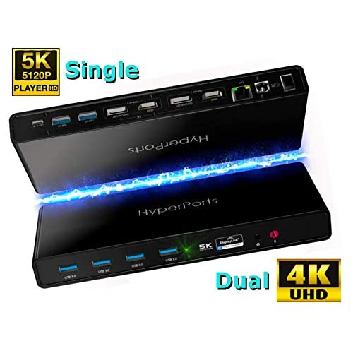 Buy HYPERPORTS USB C Dual 4K Docking Station Thunderbolt 3