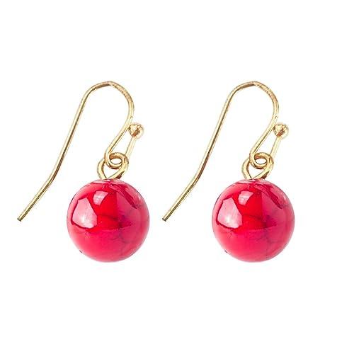 JANE STONE Round Beads Turquoise Necklace Bib Chunky Fashion Jewelry