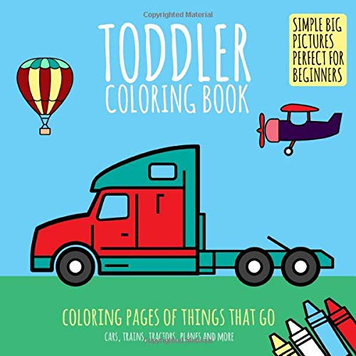 Cars Coloring Book for Toddlers ages 2-4: Fun Early Learning ... | 400x400
