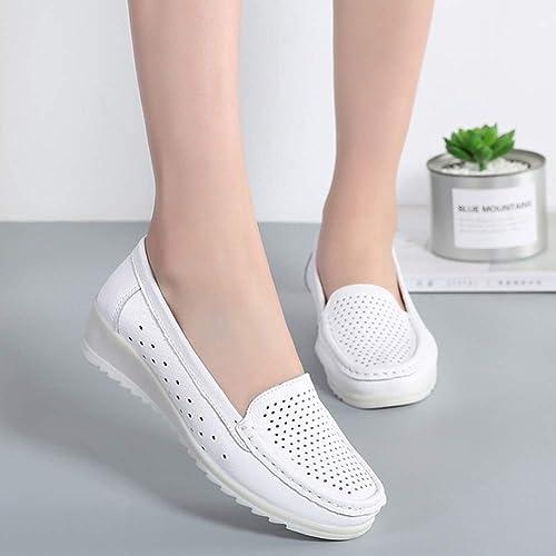 501a5e510fd24 Buy ZYEN Women's All White Nursing Shoes Comfortable Slip On Nurse ...