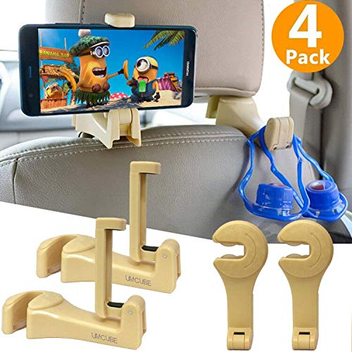 Adjustable Backseat Phone Stand Rotating Cradle Back Seat Dock Strong Grip Multi-Angle Car Mount for Apple iPad Pro//Air//Mini Tablets-Black GUDUO Car Seat Headrest Mount and Holder
