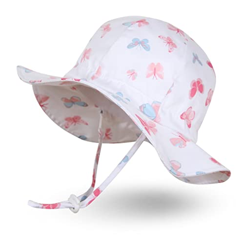 95ecf8e6 Ami&Li tots Unisex Child Adjustable Wide Brim Sun Protection Hat UPF 50  Sunhat for