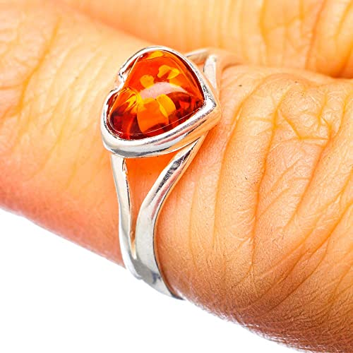 ddf0f09c4d16c Buy Ana Silver Co Genuine Baltic Amber Frog Ring Size 7 (925 ...
