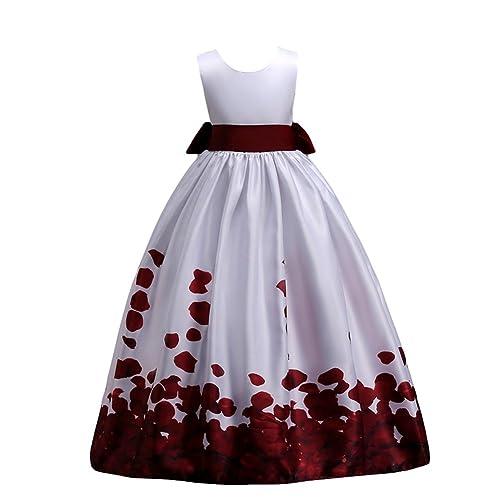 61a267c96d31c IBTOM CASTLE Little Big Girls Long Flower Princess Dresses Pageant Party  Wedding Floor Length Dance Evening