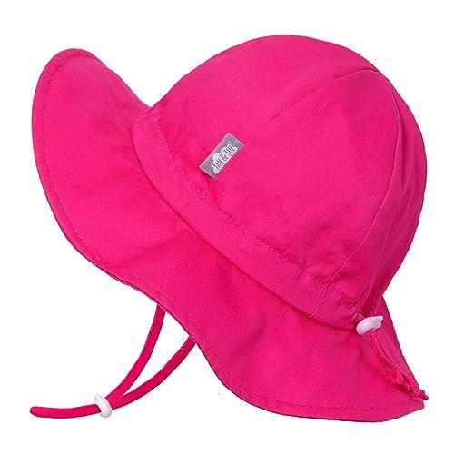44cada59a7e1e Buy JAN   JUL Girls Wide Brim UV Protection Cotton Sun-Hat ...