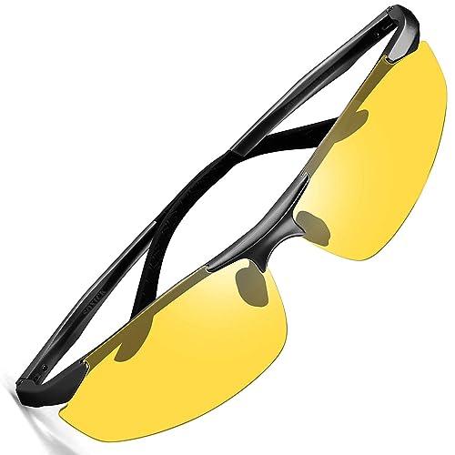 d6425d881090 HD Night Vision Glasses For Driving,Polarized Sunglasses Anti Glare Safe Night  Driving Glasses