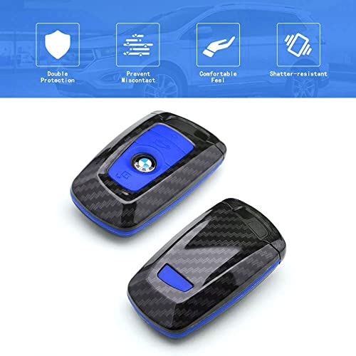 TANGSEN Smart Key Fob Case for Ford 4 Button Keyless Entry Remote Personalized Protective Cover Plastic Carbon Fiber Texture