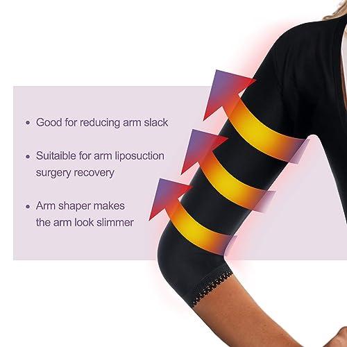 LANCS Women Upper Arm Shaper Post Surgical Compression Sleeves Slimmer Tops Posture Corrector Vest Shapewear