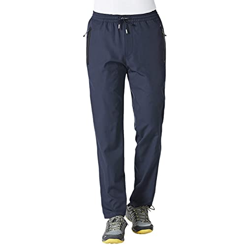 KEFITEVD Jogger Pants for Men Lightweight Quick Dry Hiking Pants Workout Sweatpants with Pockets