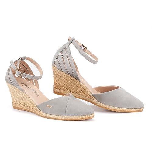 b60c0180b44 Buy VISCATA Handmade in Spain Ullastret Suede 3 Wedge, Fashion Ankle ...