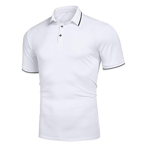 f54bd8b7 Men's Casual Slim Fit Short Sleeve Polo Shirt Classic Sport Golf Polos T  Shirt