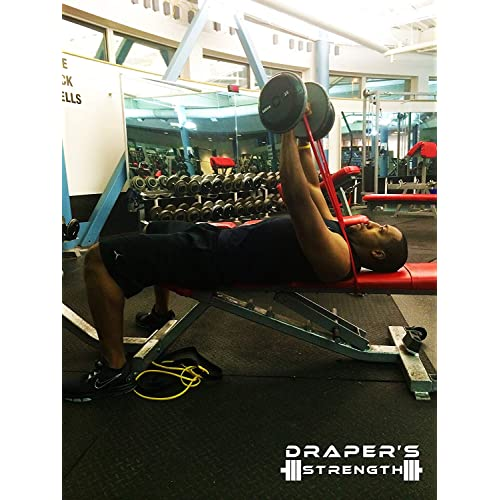 Draper/'S Strength Heavy Duty Pull Up Assist And Powerlifting Stretch 4 Bands