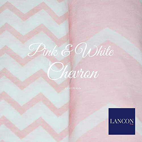 2 Pack of Ultra Soft Premium 100/% Jersey Knit Cotton Fitted Sheets Pink//Castle Pack N Play Portable Crib Sheet Set by LANCON Kids