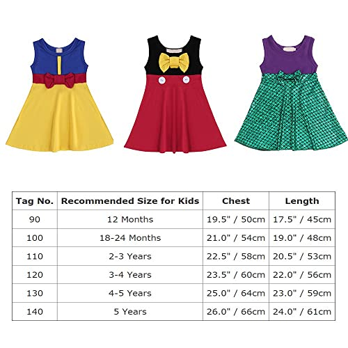 FYMNSI Little Girls Princess Halloween Cosplay Costume Birthday Tutu Dress Cake Smash Outfit