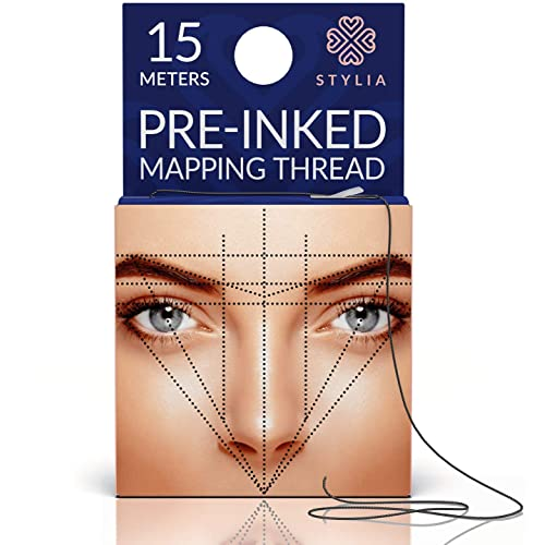 44f1189c Microblading Supplies Pre-Inked Eyebrow Mapping String – 15 Meters -  Ultra-Thin