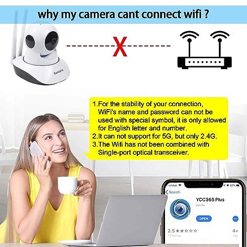 Buy Basoqiia WiFi IP Camera 1080P Wireless Security Camera Indoor
