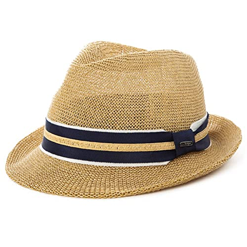 288f8f9042127 Comhats SIGGI Straw Panama Fedoras Packable Men Casual Summer Trilby Hat  Women 55-61CM