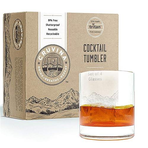 4e59f75d326 Buy Unbreakable Cocktail Drinking Glasses: Shatterproof Tritan ...