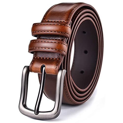 """Men/'s Genuine Leather Woven Braided Casual Dress Belt 1-1//4/"""" Wide"""