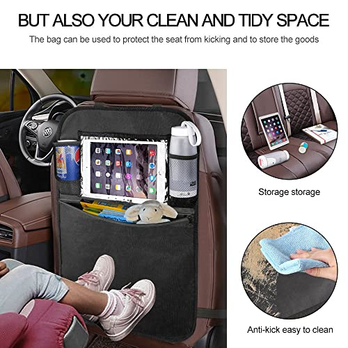 Car seat back protector cover kids kick clean mat protects storage bags  HK