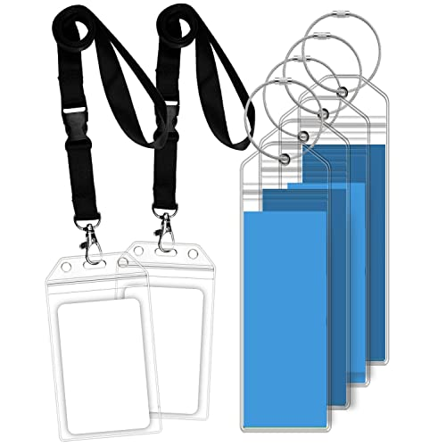 GreatShield Narrow Cruise Luggage Tag Holder with Zip Seal /& Steel Loops 8 Pack Clear Weather Resistant PVC Pouch