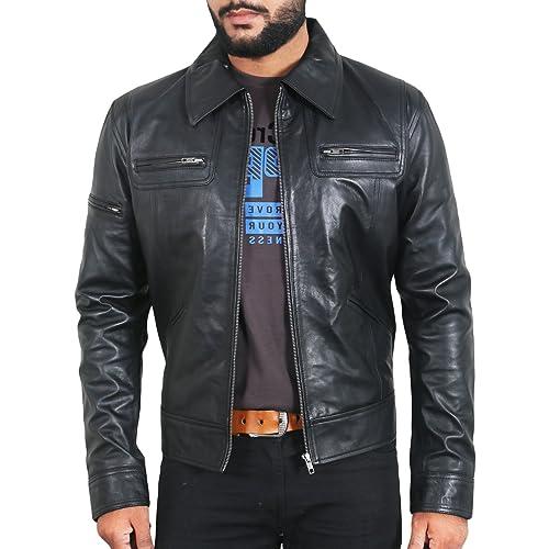 Black, Racer Jacket Laverapelle Mens Genuine Cowhide Leather Jacket 1501602