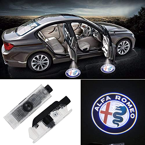 Entry Welcome Lights Courtesy Lights Ground Lamps Kit Replacement Patricon 2-Pack Car Door Lights LED Logo for Acura Accessory,Ghost Shadow Auto Emblem Courtesy Step Lights for MDX//RLX//ZDX//TLX//TL