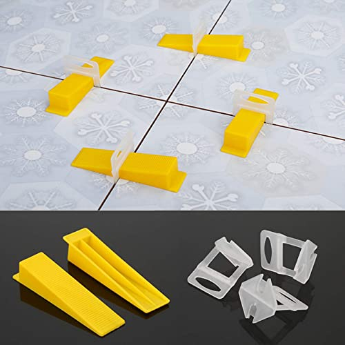 Xntun Tile Leveling System Professional Ceramic Tile and Stone Installation 1//16 Inch 300-Piece Leveling Spacer Clips and 100-Piece Reusable Wedges and 1 Tile Plier 1.5mm Suit