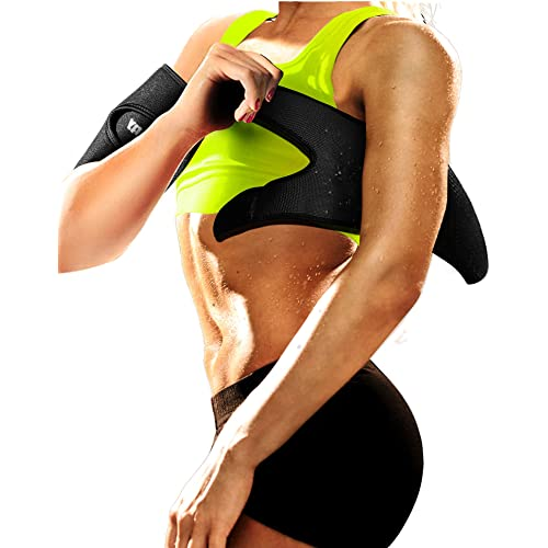fb0c573e5 LODAY Neoprene Arm Trimmers Sauna Sweat Band for Women Men Weight Loss  Compression Body Wraps Sport
