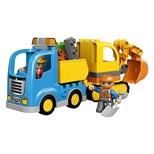 LEGO DUPLO Town Truck /& Tracked Excavator 10812 Toddler Building Block Toy