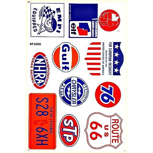 Auto Car Parts NHRA Drag Racing D6095 Lot 6 Vinyl Graphics Stickers Decals Sheet