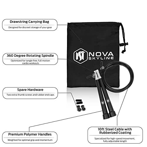 00fc3cba7 Buy Nova Skyline Speed Jump Rope – Premium Quality – Best for Boxing ...